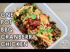 One Pot Crockpot BBQ Chicken Meal Prep - YouTube