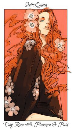 Character flower cards - Drawn by Cassandra Jean