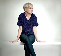 Michelle Williams -- hair and shirt.  From Filmmaker Magazine.  Photo by RICHARD KOEK by melinda