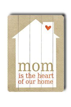 Mom Wood Sign