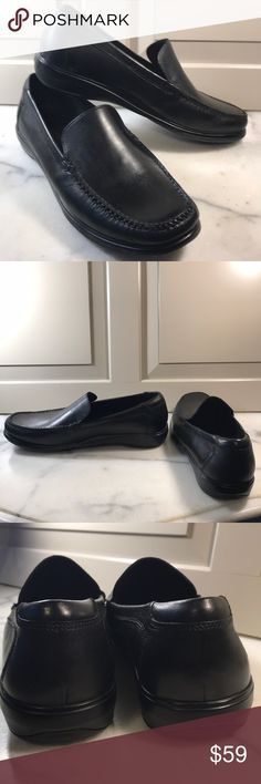 Cole Haan walking loafers Worn once and in excellent preowned condition overall. Black leather upper with durable rubber sole. Cushioned insole and leather lined. A great shoe for business travel or a dressy casual event. Cole Haan Shoes Loafers & Slip-Ons