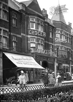 St Anne's, Shops In The Square Part of The Francis Frith Collection of historic photographs of Britain. Free to browse online today. Your nostalgic journey has begun. Time In England, London England, Candid Photography, Street Photography, Great Places, Places To Go, Blackpool England, St Anne, Old Street