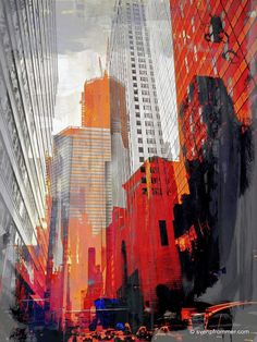 NY DOWNTOWN XIV  120x90cm Artwork is ready to hang:
