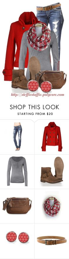 """""""Red, Gray & Plaid"""" by steffiestaffie ❤ liked on Polyvore featuring Route des Garden, True Religion, Superdry and Kelly & Katie"""