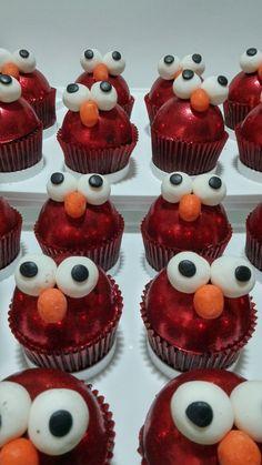 Elmo... todos encantados con estos cups de chocolate