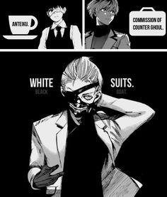 Kaneki Ken in a badass white suit Kaneki, Tsukiyama, Manga Anime, Manga Art, Anime Guys, Ken Tokyo Ghoul, Tokyo Ghoul Manga, Tamako Love Story, Anime Life
