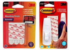 Command Strips--to hang things up without putting holes in your walls Command Hooks, Command Strips, Rental Decorating, Decorating Tips, Picture Frame Hangers, Cord Organization, Christmas Crafts For Gifts, Twinkle Lights, String Lights