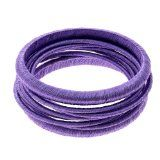 Lavender Thread Costume Bangles Set Handmade Fashion Jewelry Indian - Lavender Thread Costume Bangles Set Handmade Fashion Jewelry Indian    Lavender color threadsMetal bangle framesSize: 68 mmNo nickel, lead or cadmiumArtisan crafted in India  This