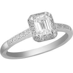 ff19d2aa7a7549 Emerald cut diamond deco inspired ring. Designed & manufactured by Avanti  Platinum Metal, Platinum