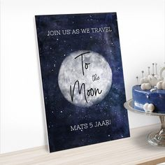 Verjaardagsbord to the moon Moon Mat, Party Decoration, Cosmic, This Is Us, Travel, Products, Viajes, Destinations, Traveling