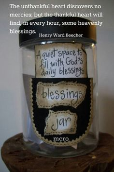 Blessings jar.