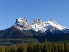Beautiful place....Three Sisters Mountains in Canmore, Alberta.