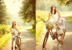 A great photographer on the east coast taught a seminar this week that I attended.  These shots totally inspired me to try to buy a cruiser or vintage bike for my seniors.
