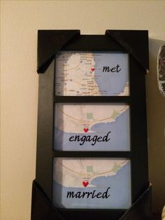Found this idea on Pinterest, loved it! My Hubby discovered he actually IS crafty while making this. He did an amazing job! He made 3 total, which we gave as gifts at Christmas. (This one was a gift for my Dad & Stepmom.)