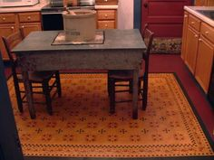 Amish Tulip Floorcloth   #floorcloth #canvas-rug #floor-cloth #home-decor #historic