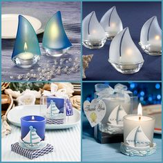 Sailboat Candle Favors Nautical Wedding Favors, Beach Wedding Centerpieces, Beach Wedding Invitations, Wedding Party Favors, Nautical Theme, Wedding Guest Men, Beach Wedding Groomsmen, Beach Wedding Guests, Coral Bridal Showers