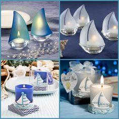 Sailboat Candle Favors Nautical Wedding Favors, Beach Wedding Centerpieces, Beach Wedding Invitations, Wedding Party Favors, Nautical Theme, Wedding Guest Men, Beach Wedding Groomsmen, Beach Wedding Guests, Beach Wedding Colors