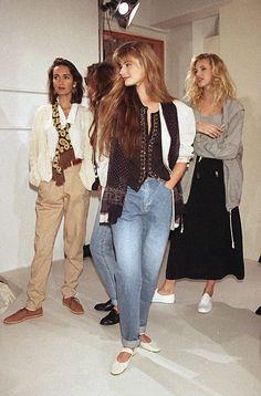 Paulina Porizkova, Vintage Outfits, Retro Outfits, Vintage Fashion, Patti Hansen, Lauren Hutton, Style Année 90, Original Supermodels, 80s And 90s Fashion