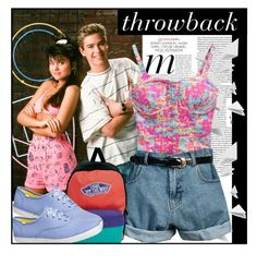 """Throwback to Saved By The Bell"" by sweet-jolly-looks ❤ liked on Polyvore featuring Chicnova Fashion, Retrò, Vans, Keds, SavedByTheBell and 90sfashion"