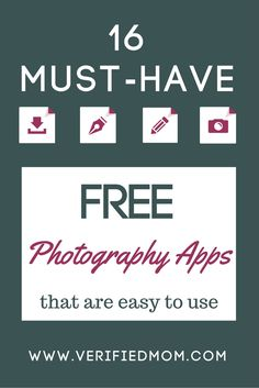 16 Must-Have FREE Photography Apps that are super easy to use!