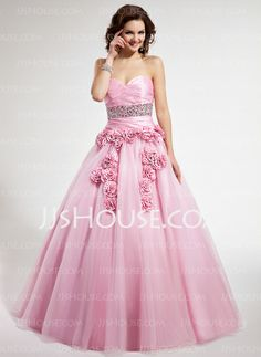 Quinceanera Dresses - $173.99 - Ball-Gown Sweetheart Floor-Length Taffeta Tulle Quinceanera Dresses With Ruffle (021022500) http://jjshouse.com/Ball-Gown-Sweetheart-Floor-Length-Taffeta-Tulle-Quinceanera-Dresses-With-Ruffle-021022500-g22500
