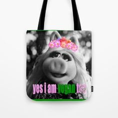 I am Vegan too! Tote Bag by azima More Than Love, Summer Of Love, Going Vegan, Peace And Love, Boho Fashion, Zen Colors, Reusable Tote Bags, Tapestry, Paper Bags