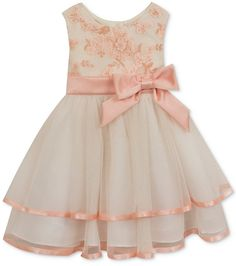 Shop for Floral-Bodice Tiered Dress, Baby Girls months) by Rare Editions at ShopStyle. Baby Girl Dress Patterns, Baby Girl Dresses, Flower Girl Dresses, Baby Girls, Kids Pageant Dresses, Girls Party Dress, Kids Dress Wear, Kids Frocks, Little Girl Outfits