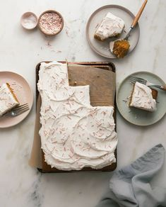 One-Bowl Pumpkin Sheet Cake with Brown Butter Frosting. fall cake + autumn cake