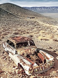 Abandoned Buick in Charcoal Kilns - Death Valley National Park. Source google.com