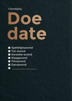 Doe date 1 | HAPPY INVITES | Happy Whatever