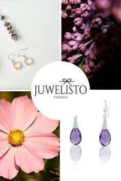Schmuck Designs inspiriert von der Natur. zart, elegant, einzigartig. Rosenquarz oder Amethyst - was ist dein Favorit?