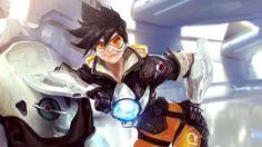 Download Tracer Overwatch Game Girl Art Wallpaper 1920x1080