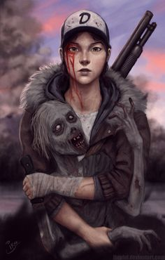 Older Clementine from TWD game
