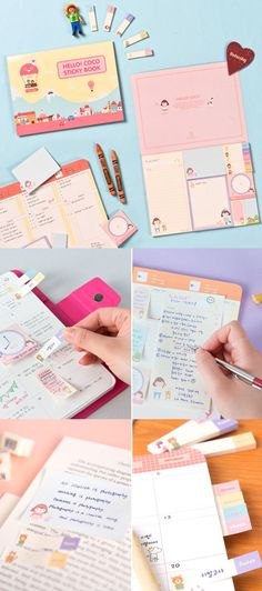 The Hello Coco Sticky Notebook is a full of cute sticky notes of various sizes! With them, you can index, write a to-do list, memos, and a timetable, or use them as a bookmark! These sticky notes will brighten up any places with their lovely charms!