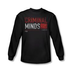 Criminal Minds TV Show CBS Title Card Adult Long Sleeve T-Shirt Tee in Clothing, Shoes & Accessories | eBay