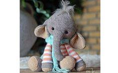 Вязаный крючком слон Нина. Схема Автор перевода: Корнеева Ирина