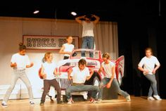 Grease, the Musical Lights Up the Stage at the Topanga Community House - Topanga Messenger Andrew Moore, Grease Musical, Grease Costumes, Stage Props, Community Housing, Youth Services, 80s Party, Mamma Mia, Party Centerpieces
