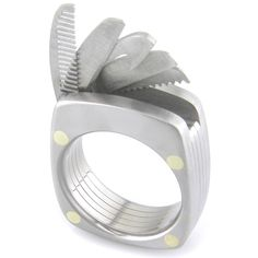 The Man Ring: Titanium Utility Ring. $385.00, via Etsy.