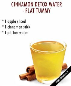 Water detox is a simple detox system to flush out the toxins from the body. And the good news is that you can make it on your own!! Now that should give you ... Detox Drinks, Healthy Drinks, Simple Detox, Easy Detox, Healthy Detox, Apple Cinnamon, Cinnamon Water, Honey And Cinnamon, Flat Tummy