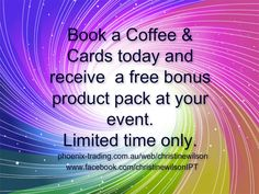 Coffee and Cards Booking Bonus Limited time only.