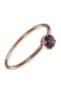 stacking ring rose vergoldet amethyst violett lila