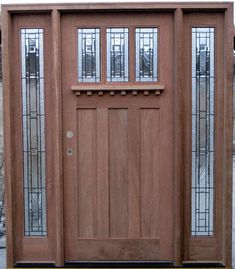 mission style entry door | Craftsman Style Exterior Doors (I like the window design)