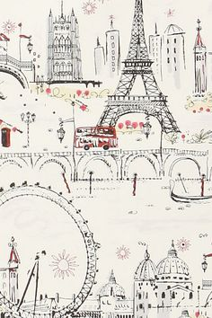 Kids Bookshelf... C'est Magnifique Wallpaper - Anthropologie.com