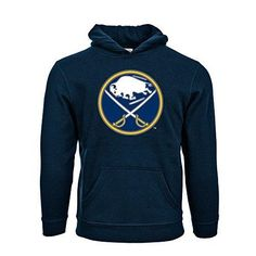 Levelwear Buffalo Sabres Suede Crest Eli Youth Pullover Hoodie Ys Navy