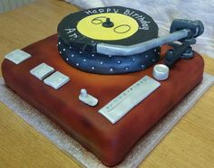 Vintage turntable for 60th birthday
