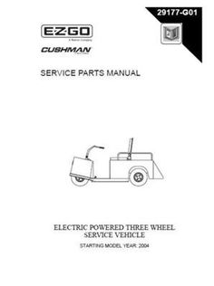 Ezgo 842826 1996 2006 service parts manual for gas cushman white ezgo 29177g01 2004 service parts manual for electric 3 wheeled utility vehicle by ezgo 6850 publicscrutiny Image collections