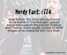 Nerdy Fact #775  Mark Ruffalo (The Hulk) - Science Bros