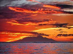 Dawn over Mt Rinjani, Lombok by peterdegraaff