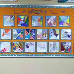 Fun art project to practice measuring and drawing angles! - Kids make a minimum of angles, measure them, and then create their design.