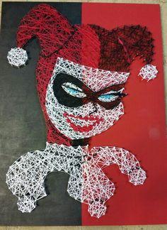 Harley Quinn String Art